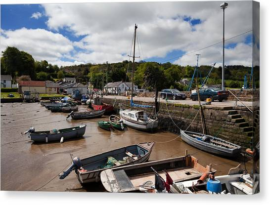 Waterford Canvas Print - The Fishing Harbour At Cheekpoint by Panoramic Images