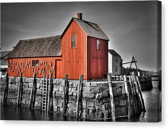 The Fishing Shack Canvas Print