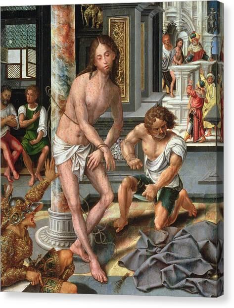 Messiah Canvas Print - The Flagellation by Pieter van Aelst