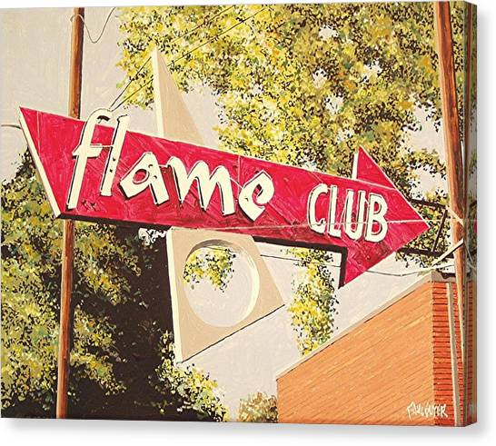 The Flame Club Canvas Print by Paul Guyer