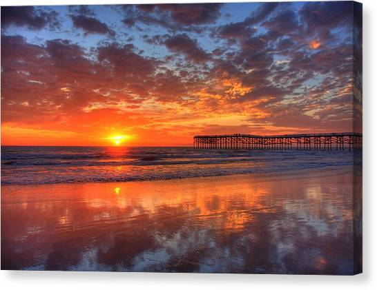 The Flame Of Pacific Beach Canvas Print