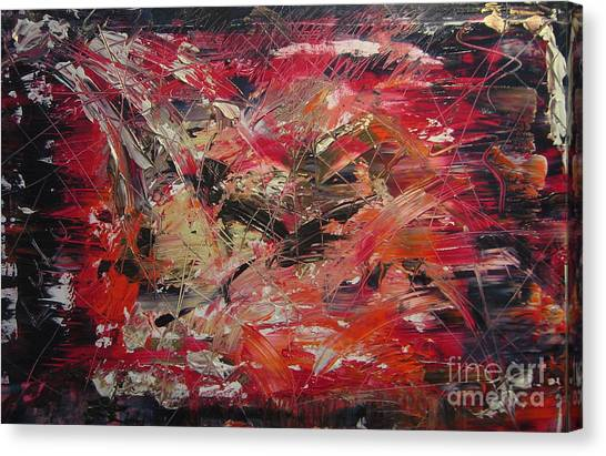 The Flameous Painting Canvas Print