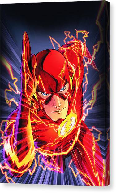 Flash Canvas Print - The Flash by FHT Designs