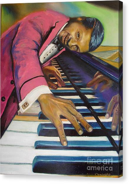 The Flavor Of Erroll Garner Canvas Print by Donna Chaasadah