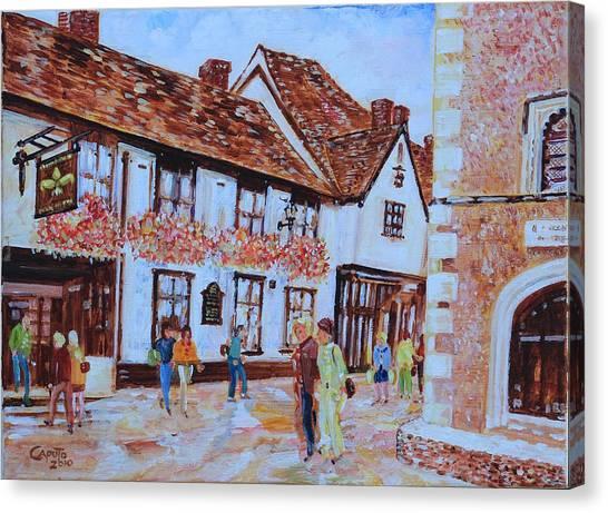 The Fleur De Lyse In St Albans Canvas Print