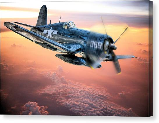 Airplanes Canvas Print - The Flight Home by JC Findley