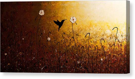 The Flight Of A Hummingbird Canvas Print