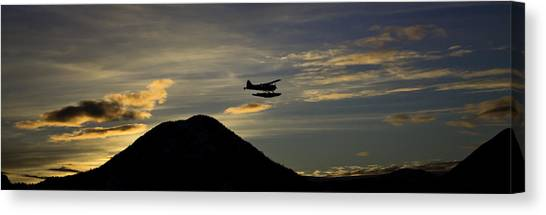 The Flight To Penn Point. Canvas Print
