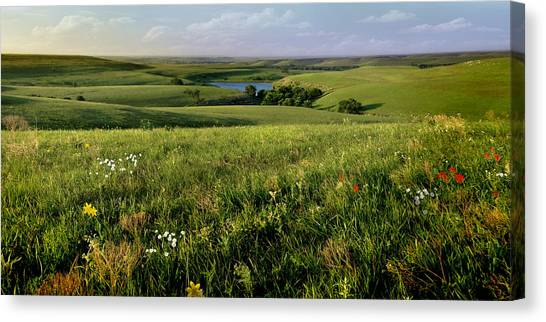 The Kansas Flint Hills From Rosalia Ranch Canvas Print