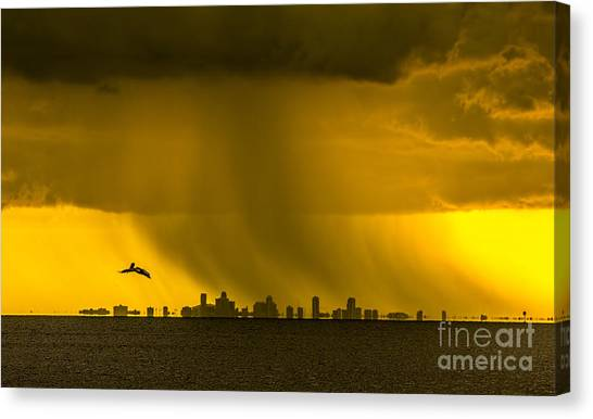 Pour Canvas Print - The Floating City  by Marvin Spates