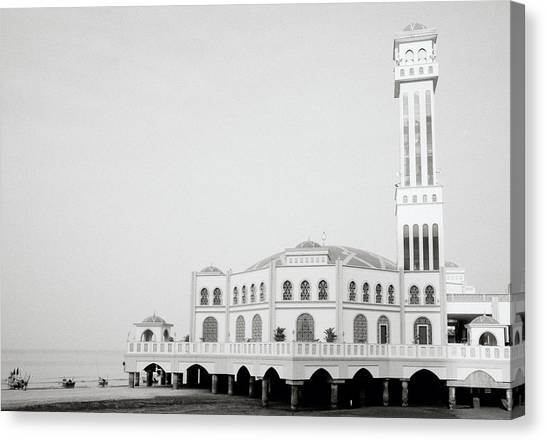 The Floating Mosque Canvas Print