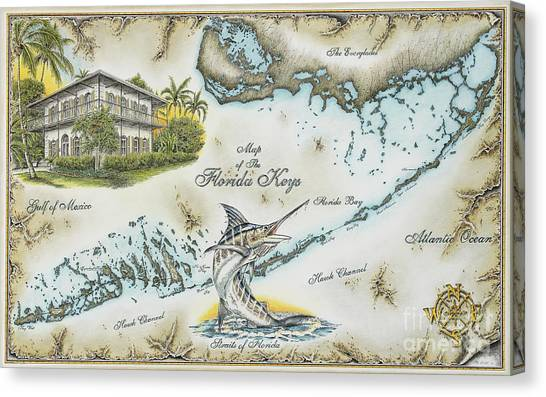 The Florida Keys Canvas Print by Mike Williams