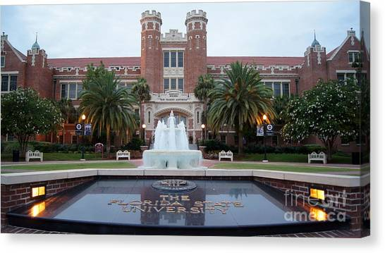 Florida State Fsu Canvas Print - The Florida State University by Paul Wilford