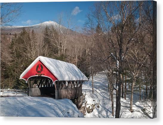 The Flume Bridge In Winter Canvas Print