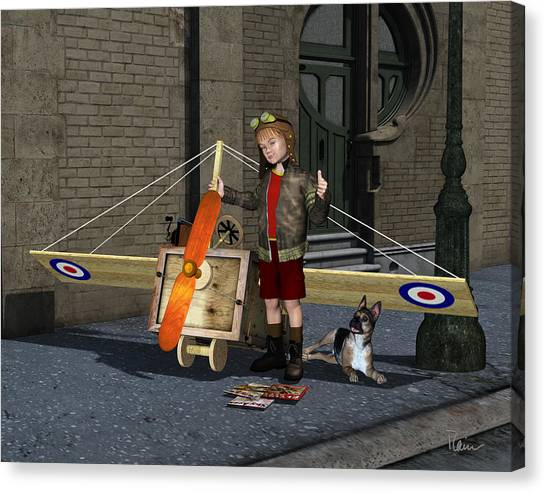 The Flying Ace Canvas Print