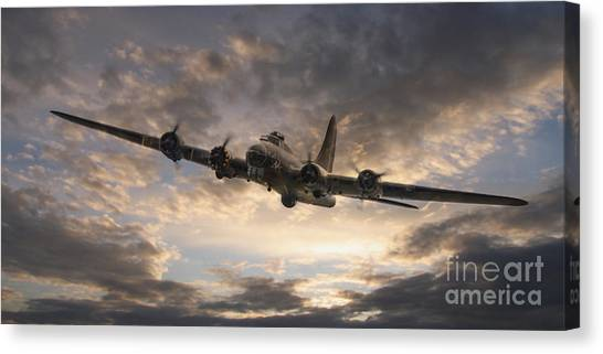 Bombers Canvas Print - The Flying Fortress by J Biggadike