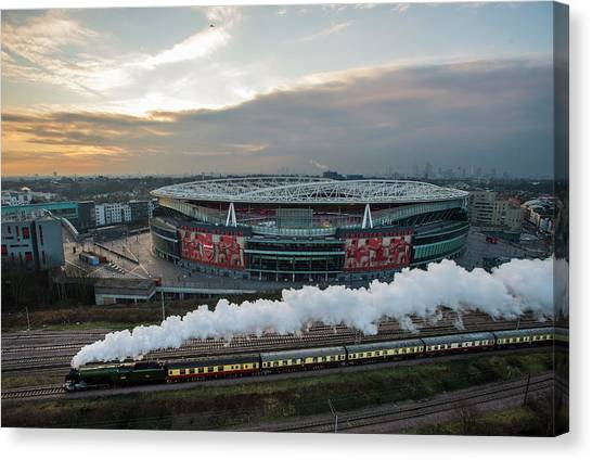 The Flying Scotsman Travels The East Canvas Print