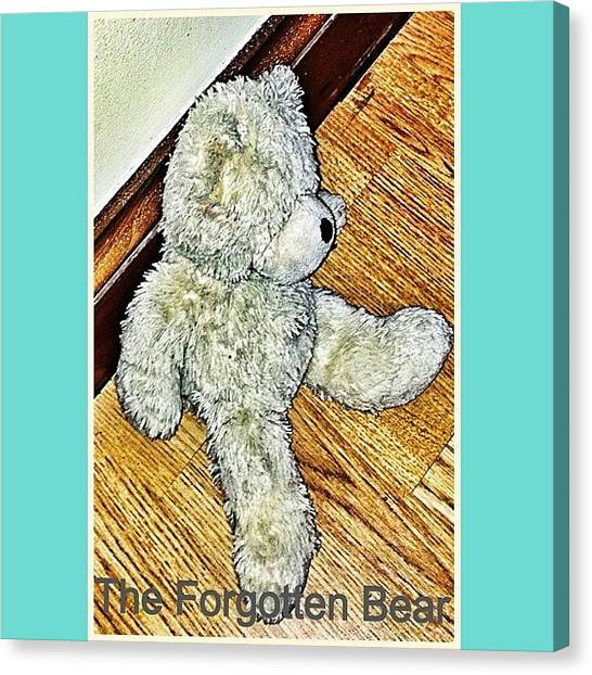 Teddy Bears Canvas Print - The Forgotten Bear. #bradley The by Ryan Burningham