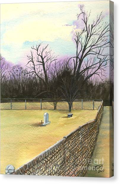 Eastern Kentucky University Canvas Print - The Forgotten by GG Burns