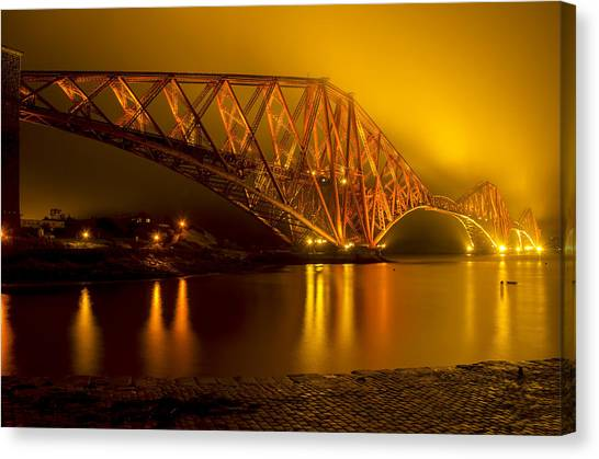 The Forth Bridge From North Queensferry Canvas Print