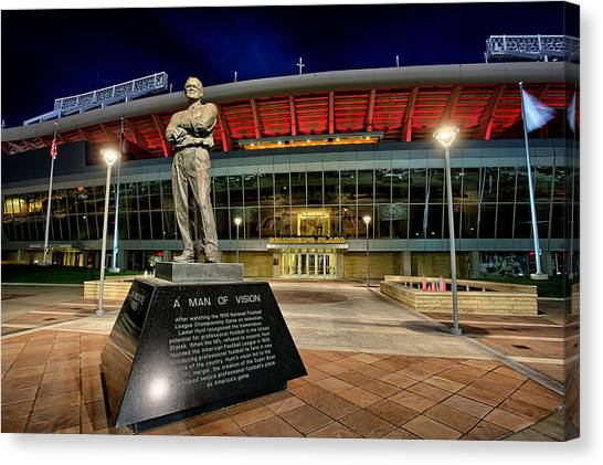 Kansas City Chiefs Canvas Print - The Founder by Thomas Zimmerman