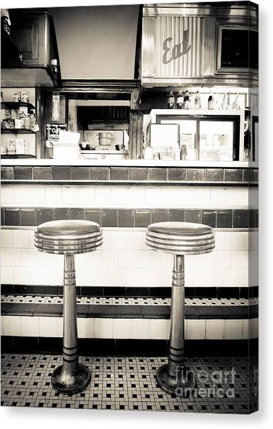 Diners Canvas Print - The Four Aces Diner by Edward Fielding