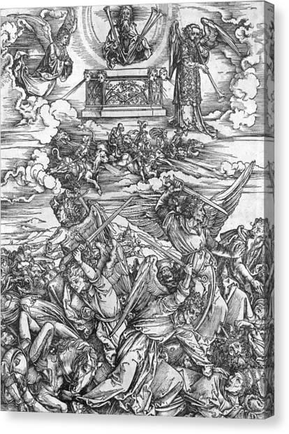 God Of War Canvas Print - The Four Vengeful Angels by Albrecht Durer or Duerer