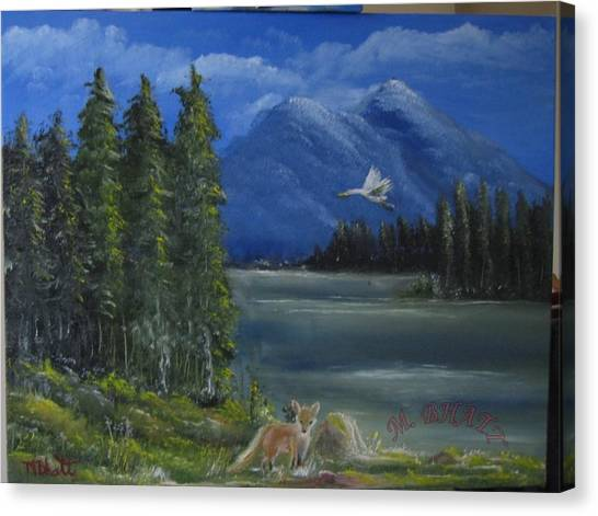 The Fox Canvas Print by M Bhatt