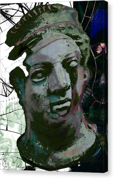 Canvas Print - The Fragility Of The Trapeeze Artist by Maria Jesus Hernandez