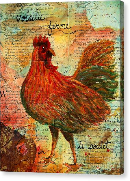 The French Chicken Canvas Print