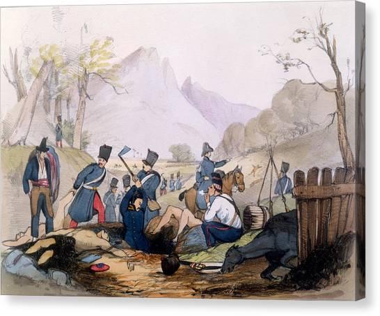 The Legion Canvas Print - The French Foreign Legion Burying by English School