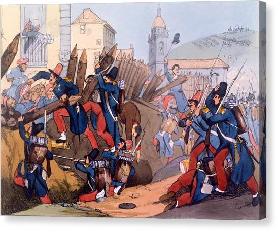 The Legion Canvas Print - The French Legion Storming A Carlist by English School