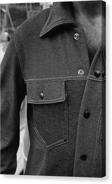 Sports Clothing Canvas Print - The Front Of A Denim Jacket by Mark Patiky