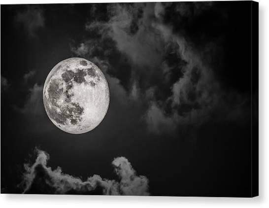 The Full Moon Is Calling Canvas Print