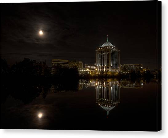The Full Moon Over The Dudley Tower Canvas Print