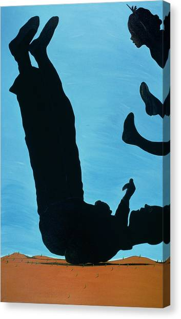 Acrobatic Canvas Print - The Funny Side Of Joe, 1998 by Marjorie Weiss