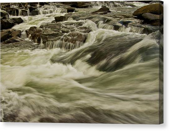The Furry Of The River..... Canvas Print