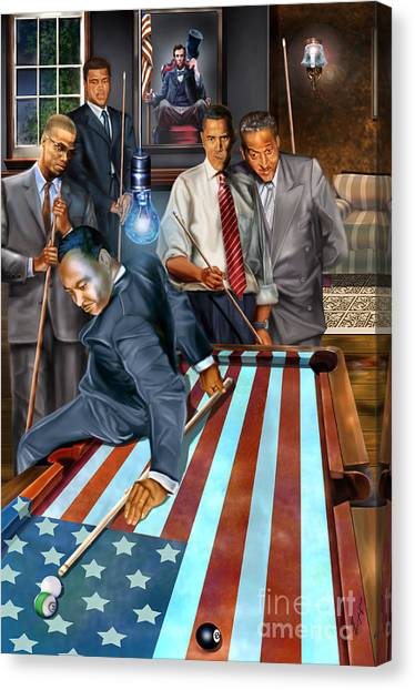 American Flag Canvas Print - The Game Changers And Table Runners by Reggie Duffie