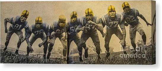 Pac 12 Canvas Print - The Game Of Inches by Mitch Shindelbower