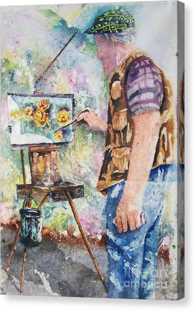 The Garden Artist Canvas Print