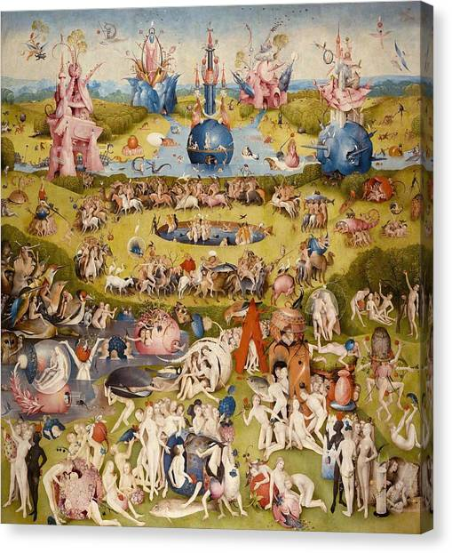 The Prado Canvas Print - The Garden Of Earthly Delights - Central Panel by Hieronymus Bosch