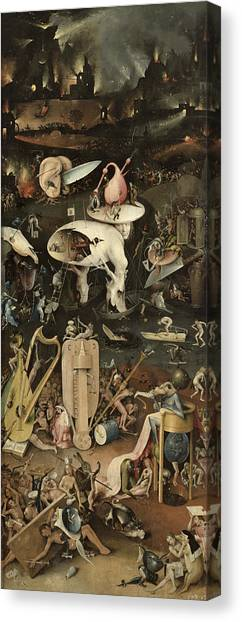 Jardin Canvas Print - The Garden Of Earthly Delights, C.1500 Oil On Panel Detail Of 3425 by Hieronymus Bosch