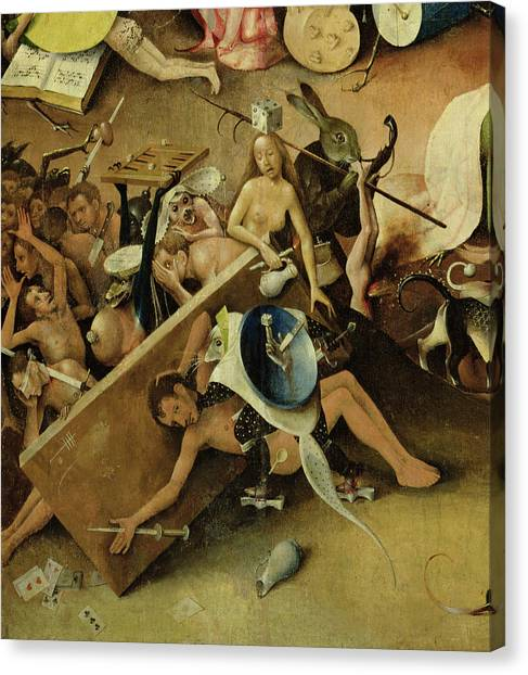 Jardin Canvas Print - The Garden Of Earthly Delights Hell, Right Wing Of Triptych, C.1500 Oil On Panel Detail Of 322 by Hieronymus Bosch