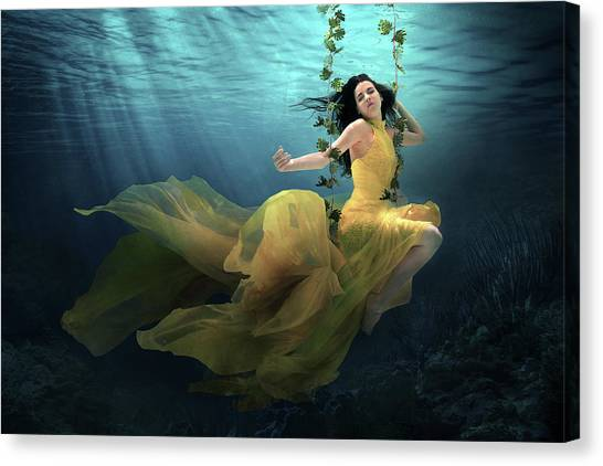 Dress Canvas Print - The Garden Of Eve by Martha Suherman