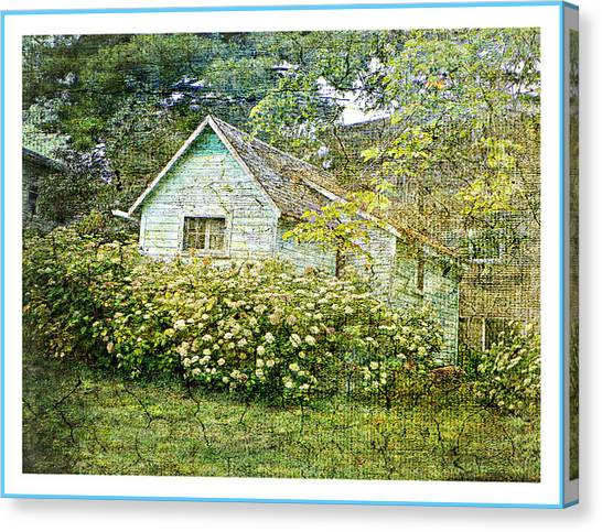 The Garden Shed Canvas Print by Dianne  Lacourciere