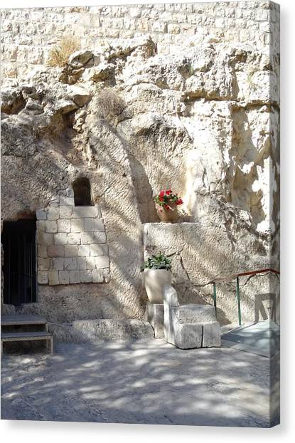 The Garden Tomb  In Jerusalem Canvas Print