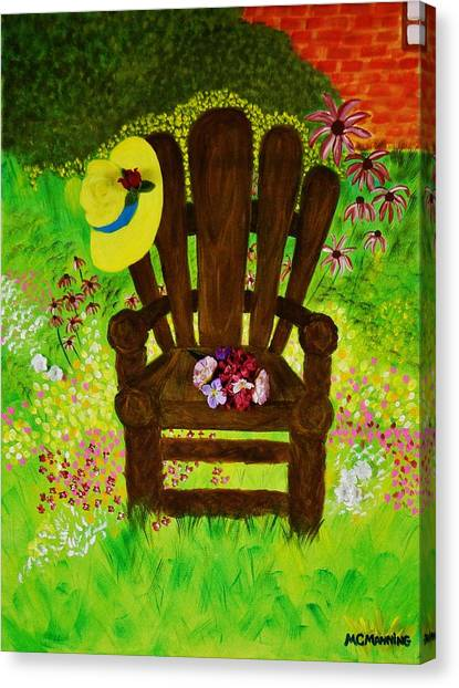 The Gardener's Chair Canvas Print