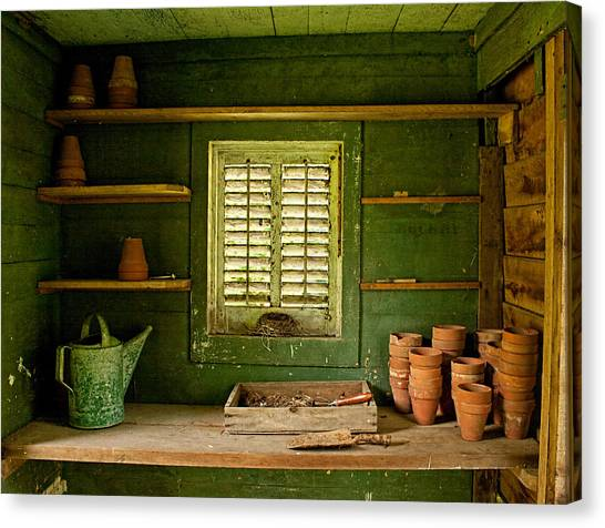 The Gardener's Shed Canvas Print