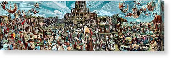 The Gardens Of Memory - Triptych -  Canvas Print by Richard Meric