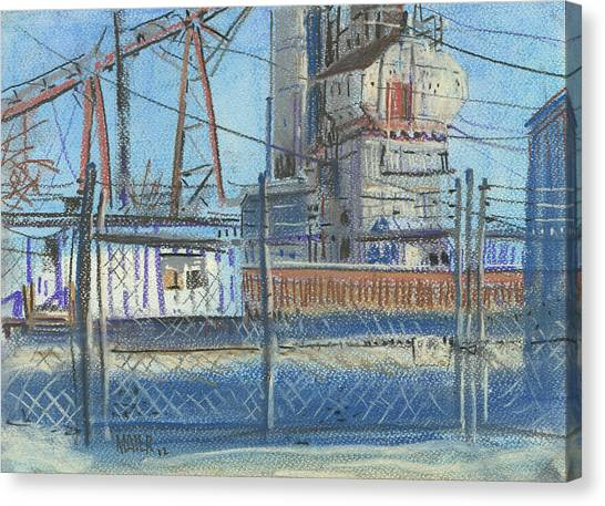 Chain Link Fence Canvas Print - The Gate by Donald Maier